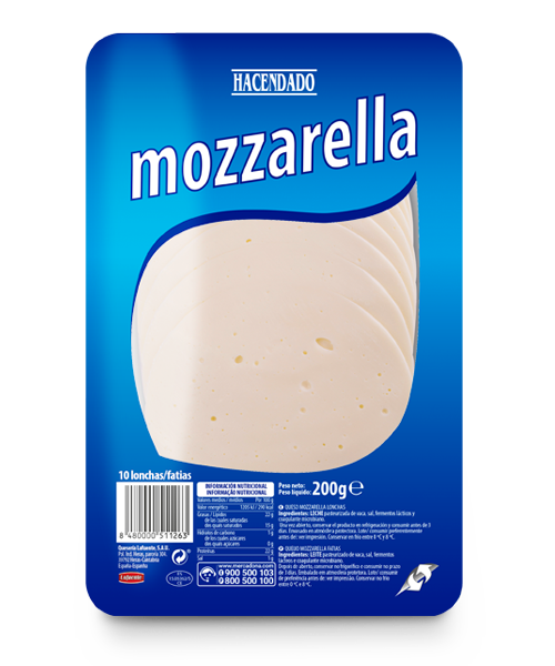 Mozzarella cheese slices